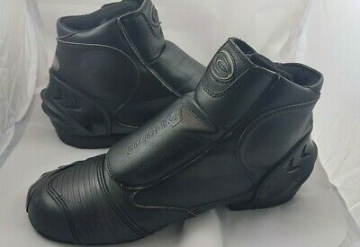 Motorcyle Black Leather boots size US 8.5 by Exustar