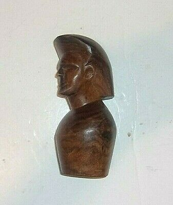 "VINTAGE  Hand Carved Wooden Egyptian Figure 6"" Tall X 3"" Wide #2"