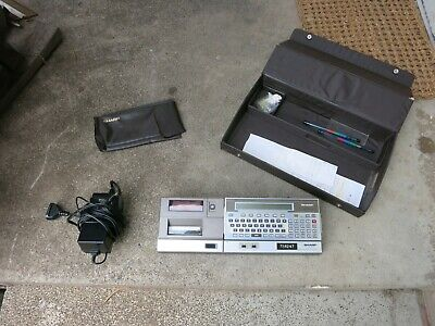 Vintage Sharp Pocket Computer Pc-1500 With Case
