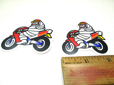 x2 Michelin Man  Stickers Decal 100mm Bibendum  BSB 7-10 year vinly