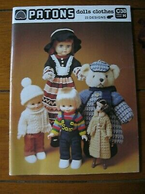 Mint Condition.Vintage Patons Knitting & Crochet,Dolls & Bears Outfits.Beautiful