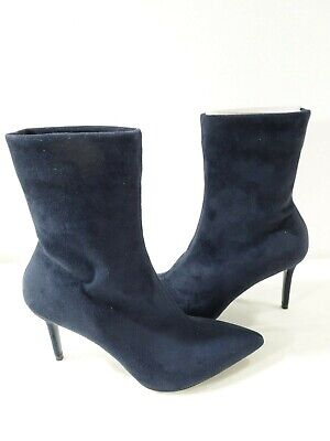 Theory Women's Natural Faux Suede Sock Boot Size 40 NWOB 510.00 BLue