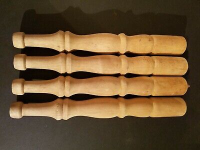 """(LOT OF 4) Unfinished Wood Baluster Spindles Legs 14"""" Furniture"""