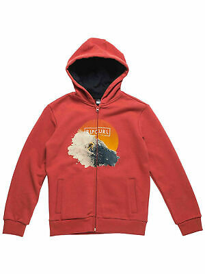 Faulty! Rip Curl Boys Most Photorrint Zip Fleece Hoodie Jumper Sweatshirt SZ 10