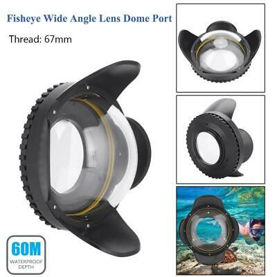 Seafrog 67mm Fisheye Lens Wide Angle Dome Port Lens 60m Underwater Housing Case