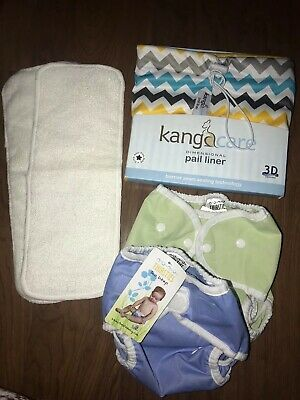 NEW Cloth Diaper Lot 5 Piece Lot. Rumparooz Pail Liner Thirsties Duo Wrap