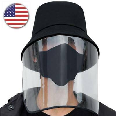 Fishing Bucket Hat with Plastic Face Shield Men Women Anti Dust Spittle Cap Hat