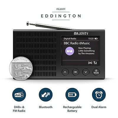 Portable Rechargeable Digital DAB+ FM Radio Pocket Bluetooth Alarm Clock