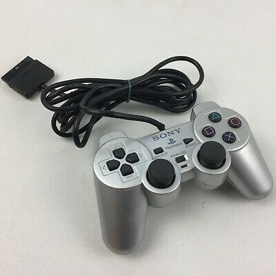 FAULTY Genuine Official Sony PlayStation 2 DualShock 2 Controller Pad, Silver