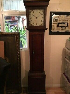 18C Oak Long Case /. Grandfather Clock with Thame dial