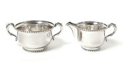 Silver sugar bowl and milk jug (creamer). Denmark, Grann & Laglye, 1951