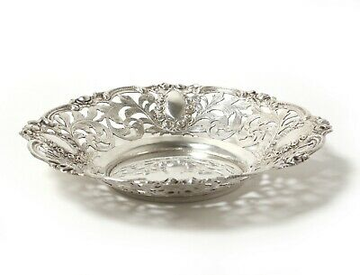 Silver open-work bowl. Was imported to Sweden.