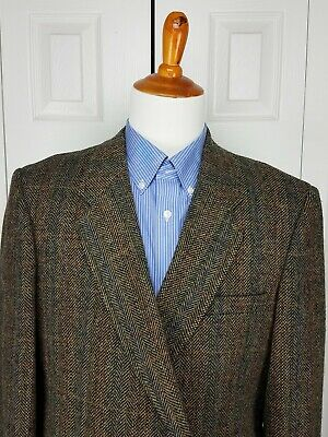 AUSTIN MANOR Mens Sports Coat Blazer Suit Jacket with Elbow Patches Size 46R