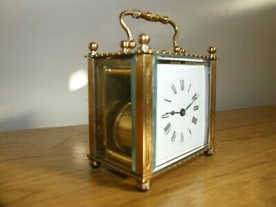 Superb Richards & Co French 5 glass carriage clock unusual shape GWO