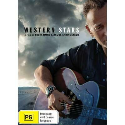 Western Stars Dvd, Bruce Springsteen, New & Sealed, 2020 Release, Free Post