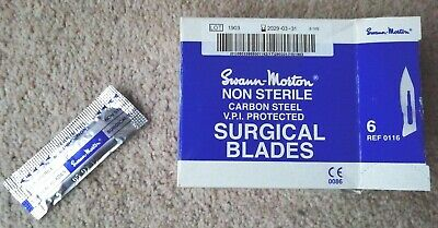 SWANN MORTON scalpel blades, No.6, pack of 200 to fit No.3 handle