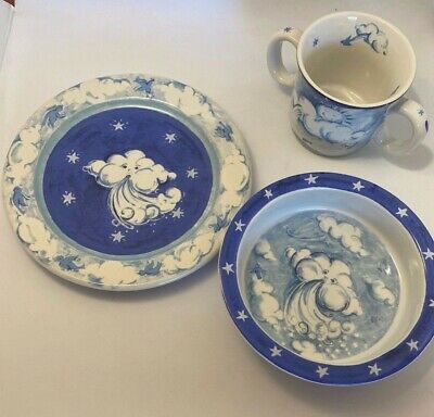 PUFF Johanna Bohoy Essex Collection Set of 3 Bowl Plate & Cup Clouds EC