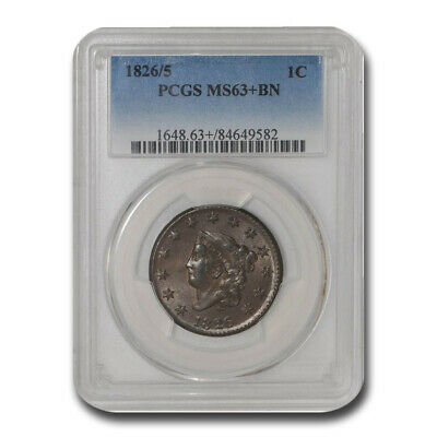 1826/5 Large Cent MS-63+ PCGS (Brown) - SKU#209900