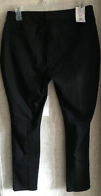 Riders Womens Jeggings New Size L 12 14 Inseam 29 Black Pull On Stretch Pants
