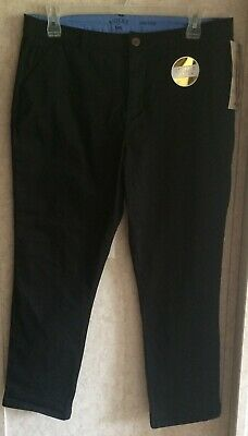 Riders Womens Pants Crop Chino New Slim Fit Size 16 Inseam 28 Black Stretch Mid