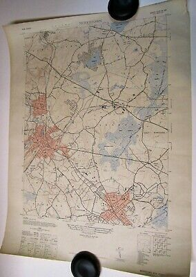 1947 TOPOGRAPHICAL MAP MORRISTOWN NEW jERSEY