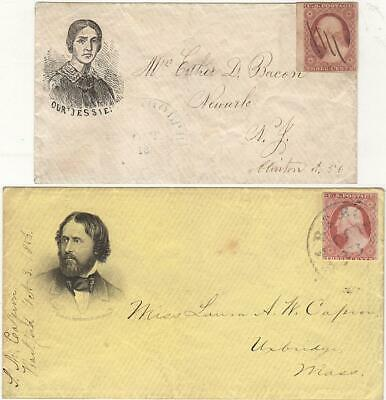 1856 - Two Presidential Campaign Covers featuring John & Jessie Fremont