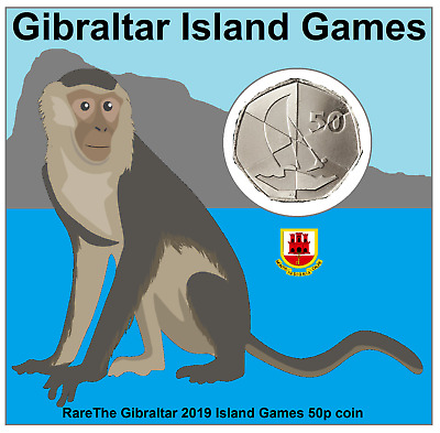 The Gibraltar 2019 Island Games 50p coin