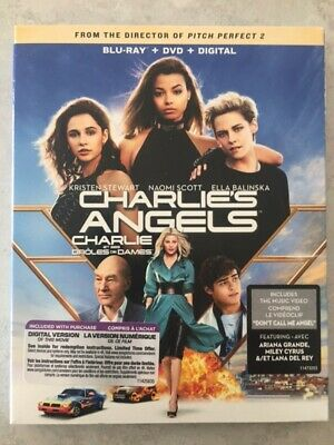 Charlie's Angels 2020 Blu-Ray & DVD w Slipcover Canada Bilingual NO DC LOOK