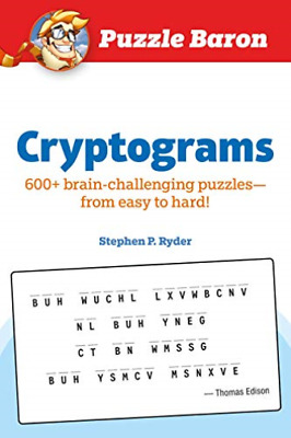 Ryder Stephen P.-Puzzle Baron Cryptograms BOOK NEUF