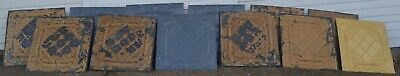 Antique Salvage & Reproduction Victorian Metal Tin Ceiling Tile 12 Total