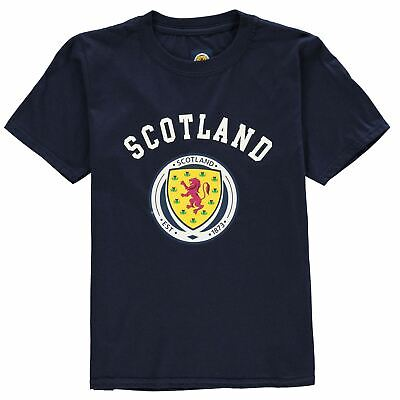 Source Lab Boys Scotland Crest T Shirt Top Junior Kids Short Sleeve Cotton