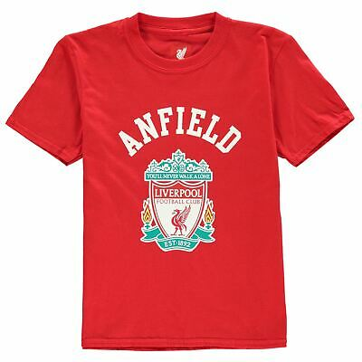 Source Lab Boys Liverpool FC Crest T Shirt Junior Short Sleeve Crew T-Shirt Top