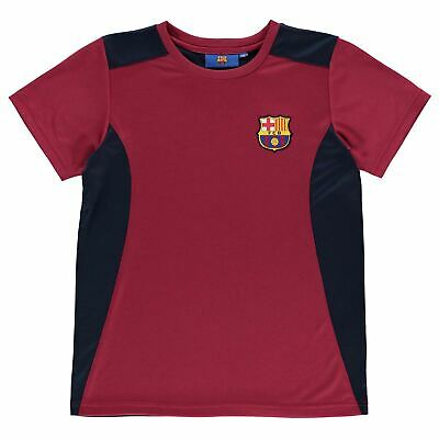 Source Lab Boys Barcelona T Shirt Top Junior Kids Short Sleeve Football