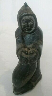 1970's Inuit Eskimo Soapstone Carving of a native american