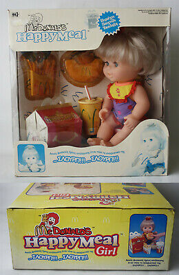 Vintage 1998 Mc Donalds Happy Meal Girl Eating Doll + My Little Pony Gift New !