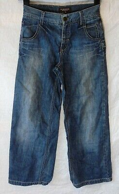 Boys St George Duffer Blue Whiskered Denim Wide Relaxed Fit Jeans Age 10 Years