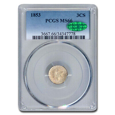 1853 Three Cent Silver MS-66 PCGS CAC - SKU#166663