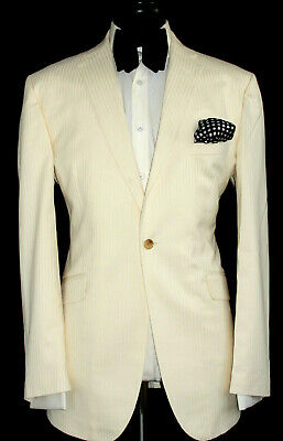 New Mens Ozwald Boateng Bespoke Couture Savile Row Formal/ Wedding Suit 46R W40