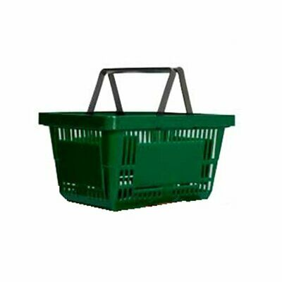 supermarket Grocery off Shopping baskets plastic basket two handle baskets Green