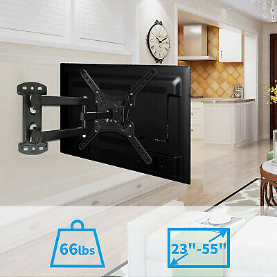 Swivel Strong Arm Full Motion TV Wall Mount Articulating Bracket 27 32 42 50 55""