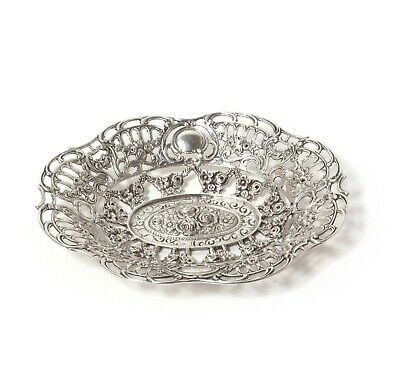 Small silver open-work bowl.  Was imported to Sweden.
