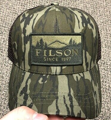 FILSON Wool Camo Logger Mesh Cap Hunting Hat • Camouflage /& Otter Green • NWT