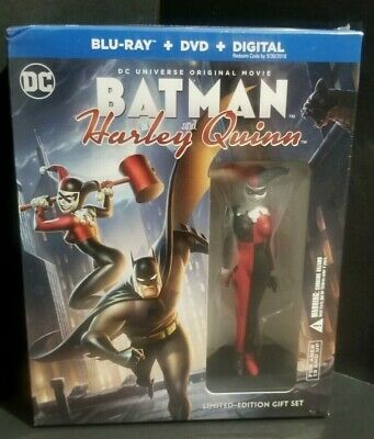 Batman And Harley Quinn-Blu-Ray+DVD-Limited Edition/Gift Set/With Figure - New