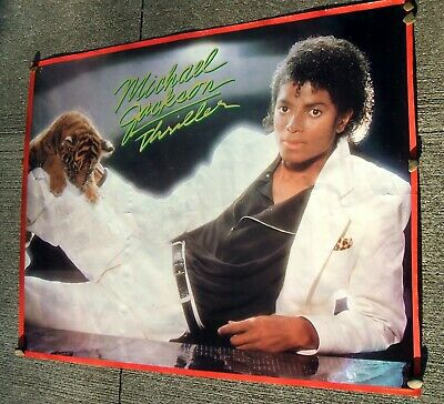 Michael Jackson THRILLER Poster Original PROMO ONLY Tiger 46x36 Super Rare HUGE!