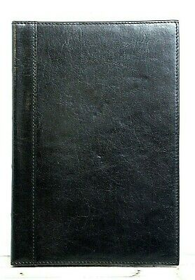 "Sz 6""x8.75"" Barrington BLACK GENUINE LEATHER LINED JOURNAL COVER JACKET NOTEPAD"