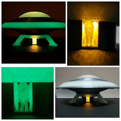 UFO 1B-LARGE (Glow-in-dark w/Light) inspired by Earth vs the Flying Saucers