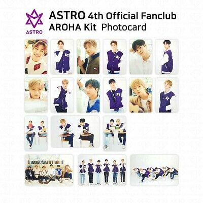 ASTRO 4th Official Fanclub AROHA Kit Photocard Photo Card Eunwoo Moonbin KPOP