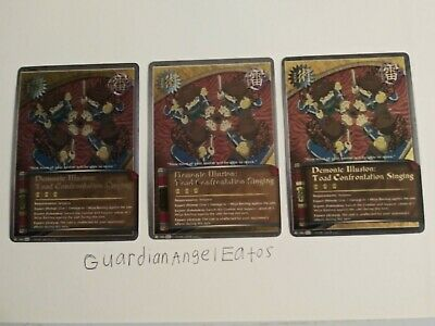 Toad Flame Bombs J-195 Super Rare Card Near Mint Naruto Fire Style