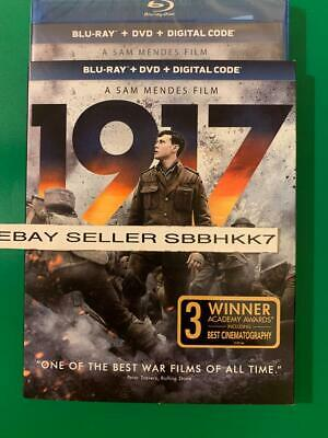 1917 Blu-ray + DVD + Digital HD & Slipcover Brand New Sealed Free Shipping