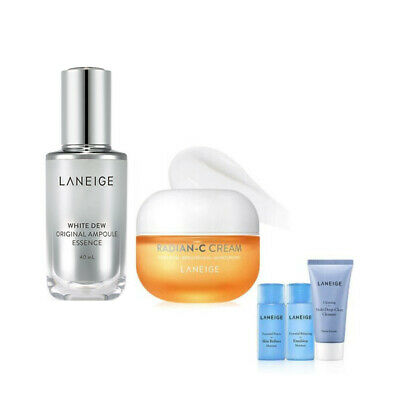 LANEIGE Brightening Vitamin Care Radian-C Cream & White Dew Ampoule Essence